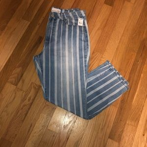 NWT RSQ denim striped jeans